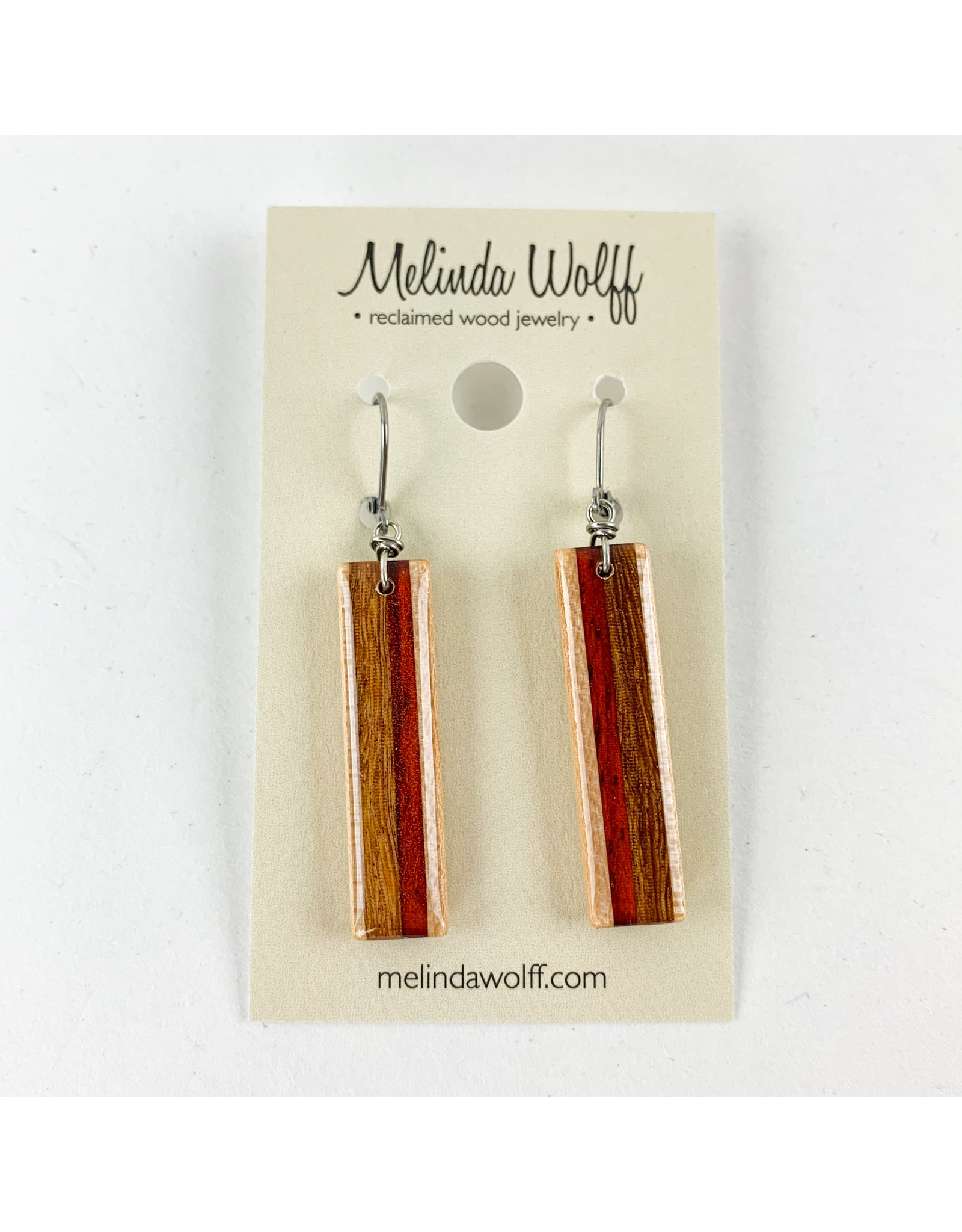 Melinda Wolff-consignment earrings rectangle, consignment E8-L