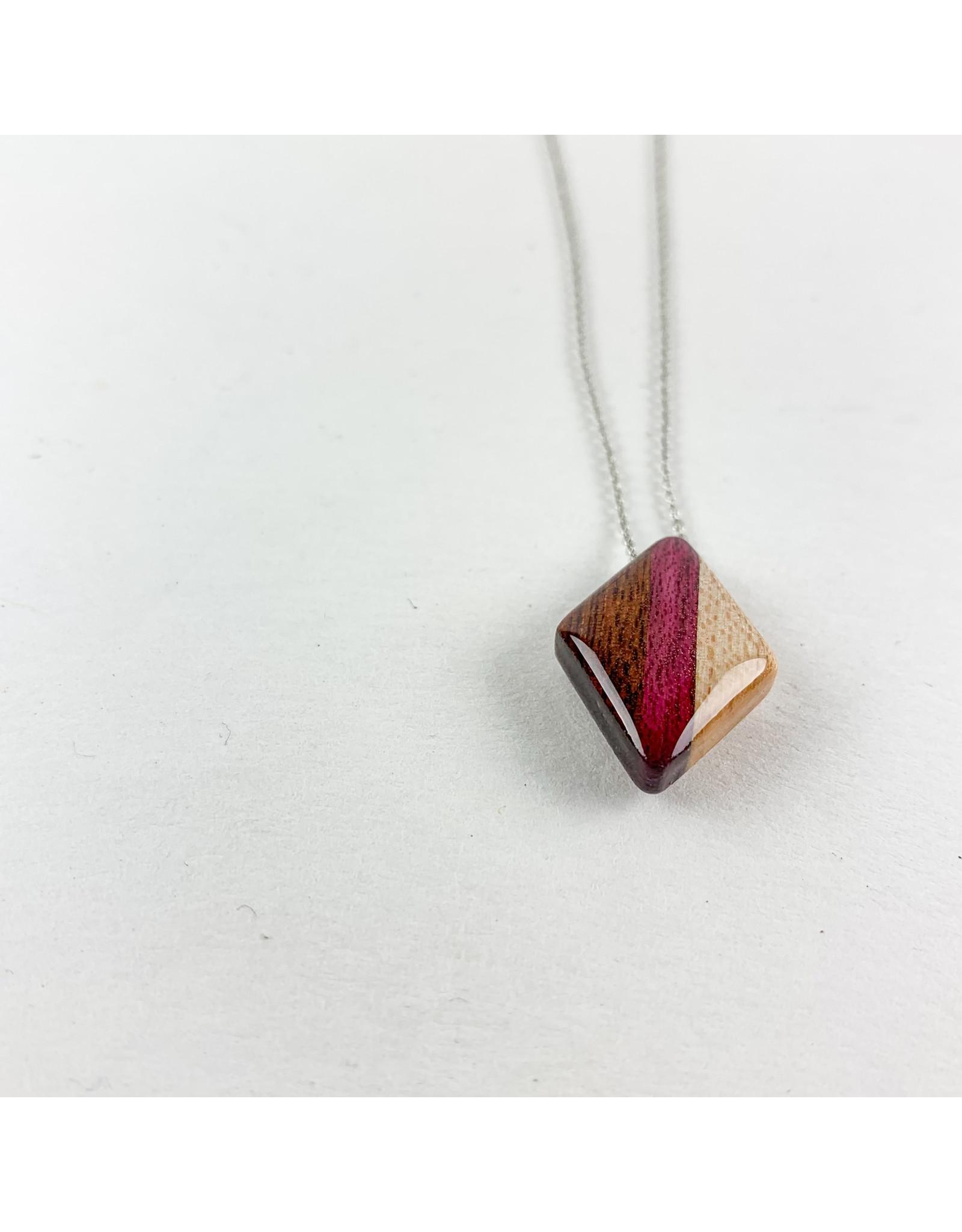 "Melinda Wolff-consignment Mini Wood Diamond 16"" +Extender 2""/N38"