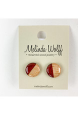 Melinda Wolff-consignment Circle Post Earrings-E1-L-Consignment