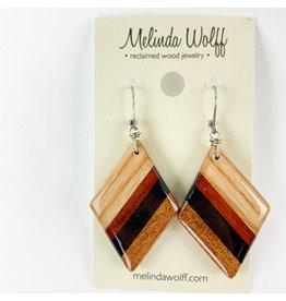Melinda Wolff-consignment Diamond earrings med.-#E23
