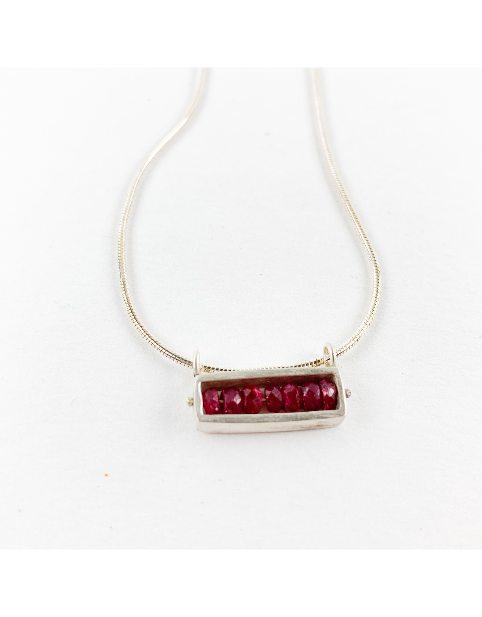Bridget Clark - Consignment N0172 Sterling Rectangle - Ruby