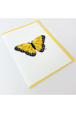 Iconic Quill Shop Yellow Butterfly
