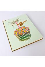 Rifle Cupcake Birthday Card