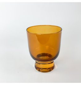 Creative Co-Op Stemless Drinking Glass Burnt Orange