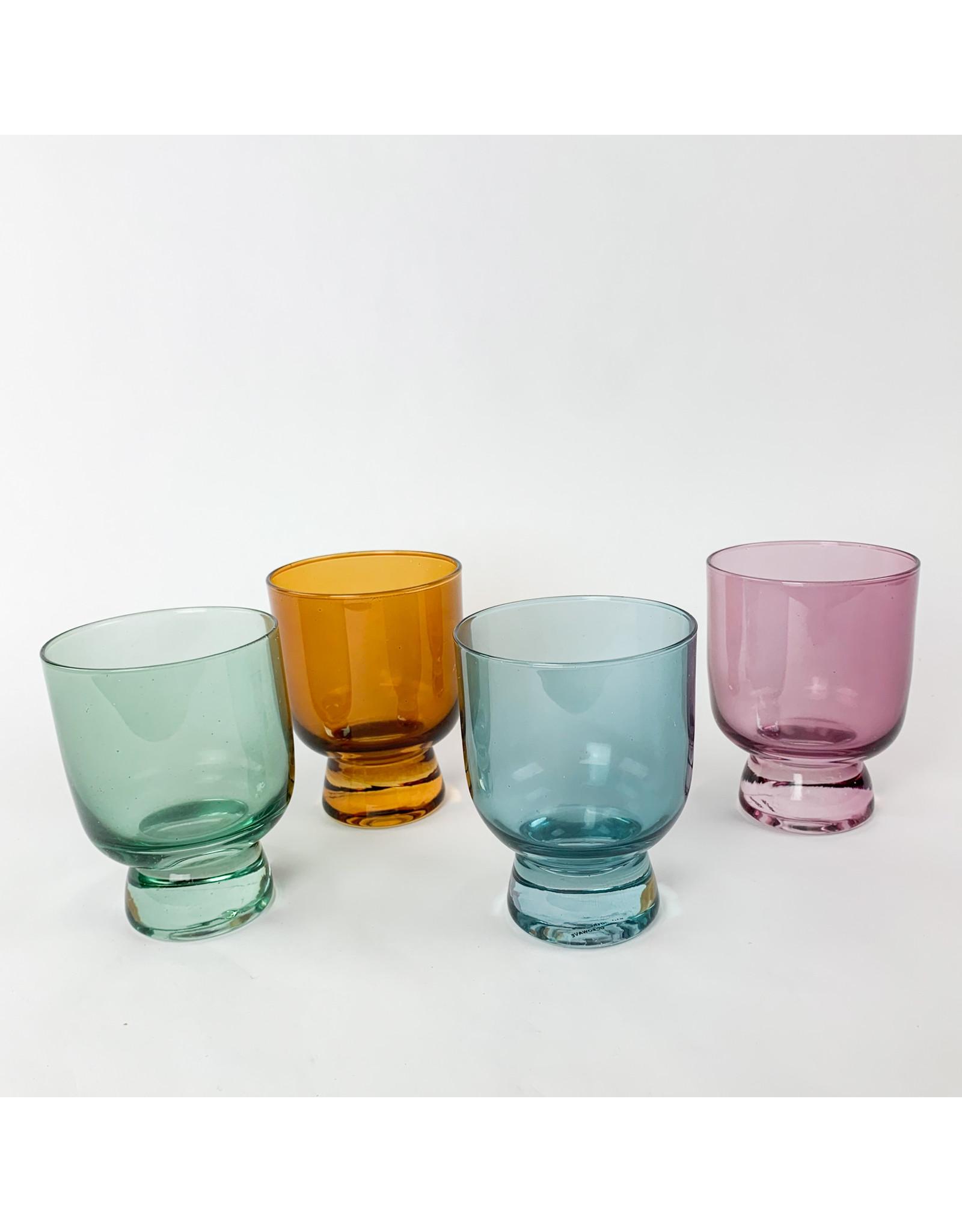 Creative Co-Op Stemless Drinking Glass Blue