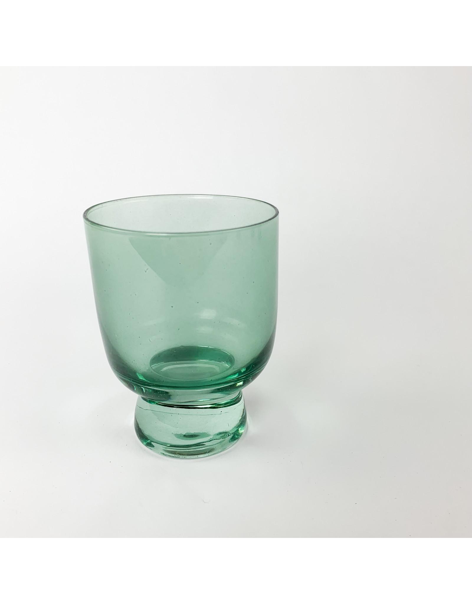 Creative Co-Op Stemless Drinking Glass Aqua