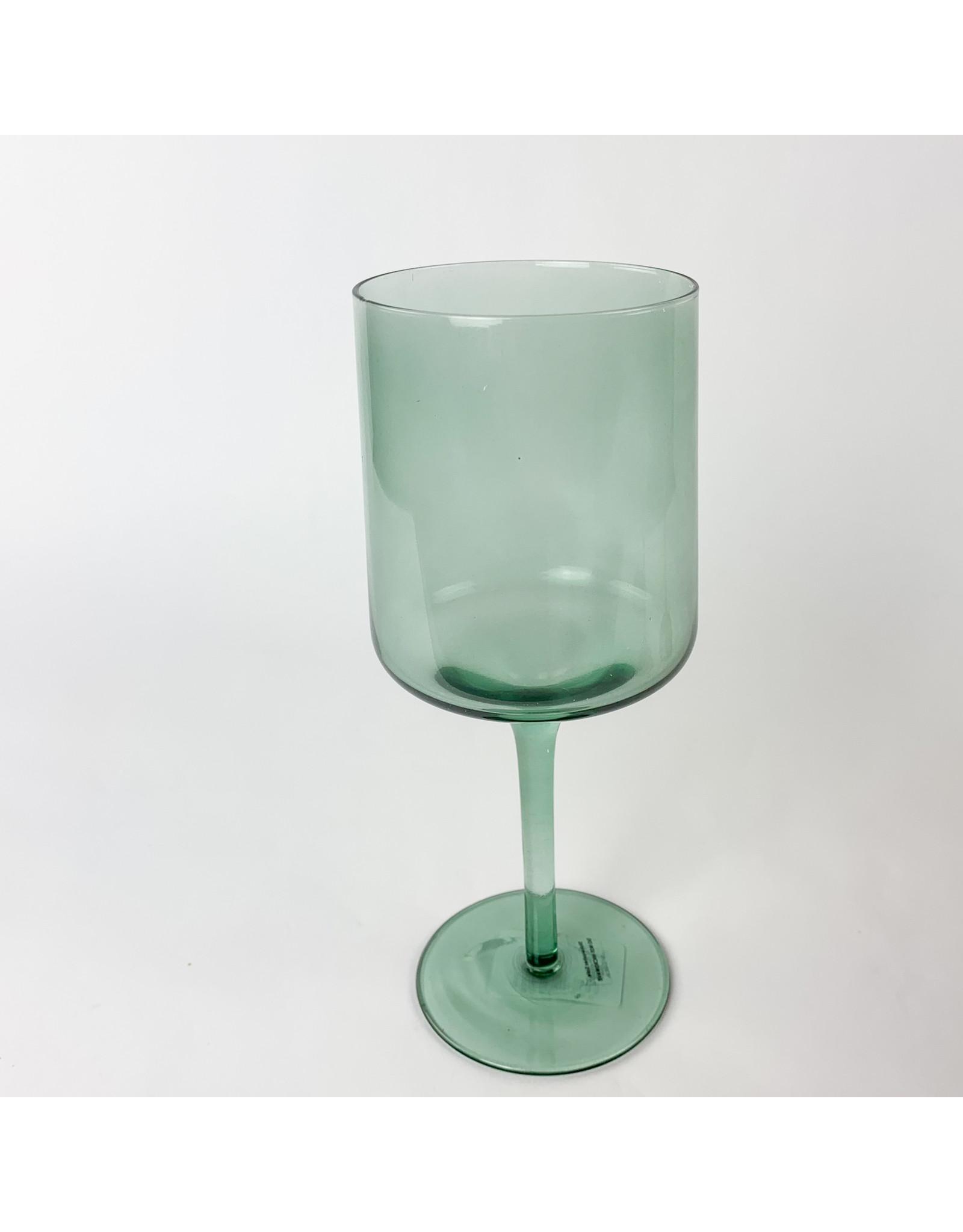 Creative Co-Op Drinking Glass Aqua Stemmed