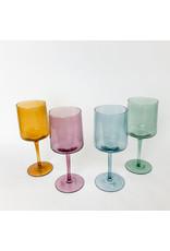Creative Co-Op Drinking Glass Blue Stemmed