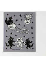 Cat Coven Dancing Friends Print