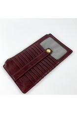 Joy Accessories Kara Mini Wallet Oxblood