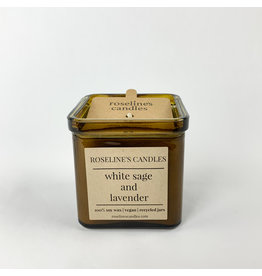 Roseline's Candles White Sage and Lavender