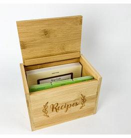 Peter Pauper Press Bamboo Recipe Box