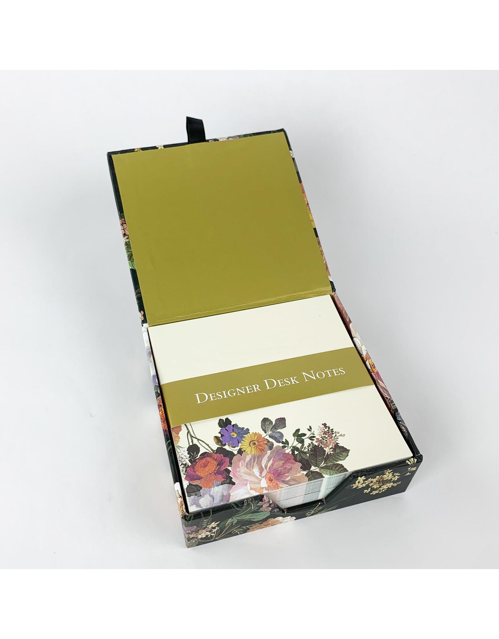 Peter Pauper Press Midnight floral desk notes