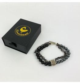 Renaissance Accessories Bracelet - Hematite Black Lava Beads