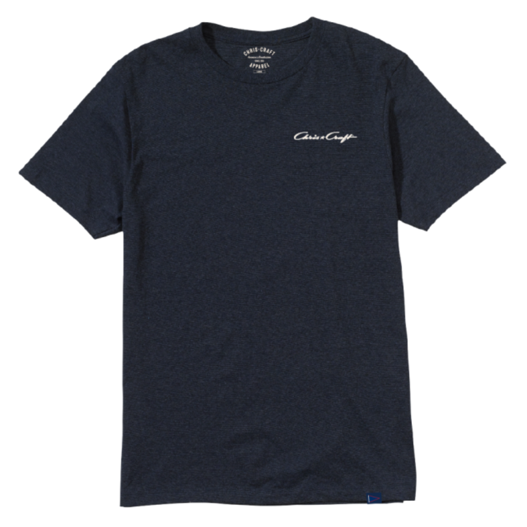 SHIRT, TEE JAMES TRI-HEATHER NAVY