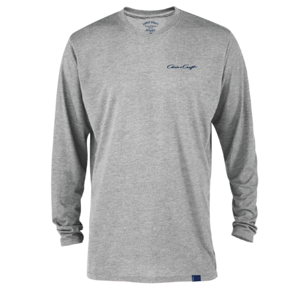 SHIRT, TEE TRI-BLEND LONG SLEEVE GRAY
