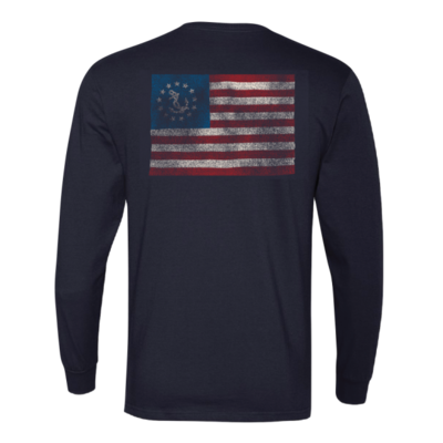 SHIRT, RINGSPUN LONG SLEEVE NAVY