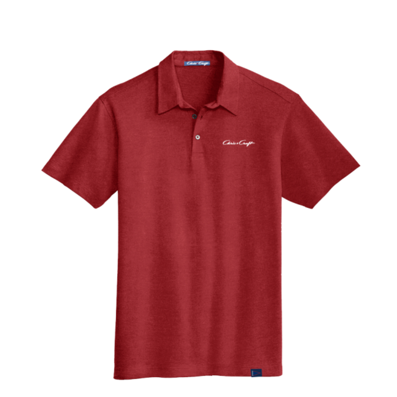 SHIRT, POLO COTTON BLEND RED
