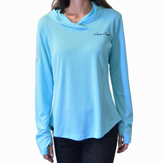 Ladies Performance Hoodie Aqua