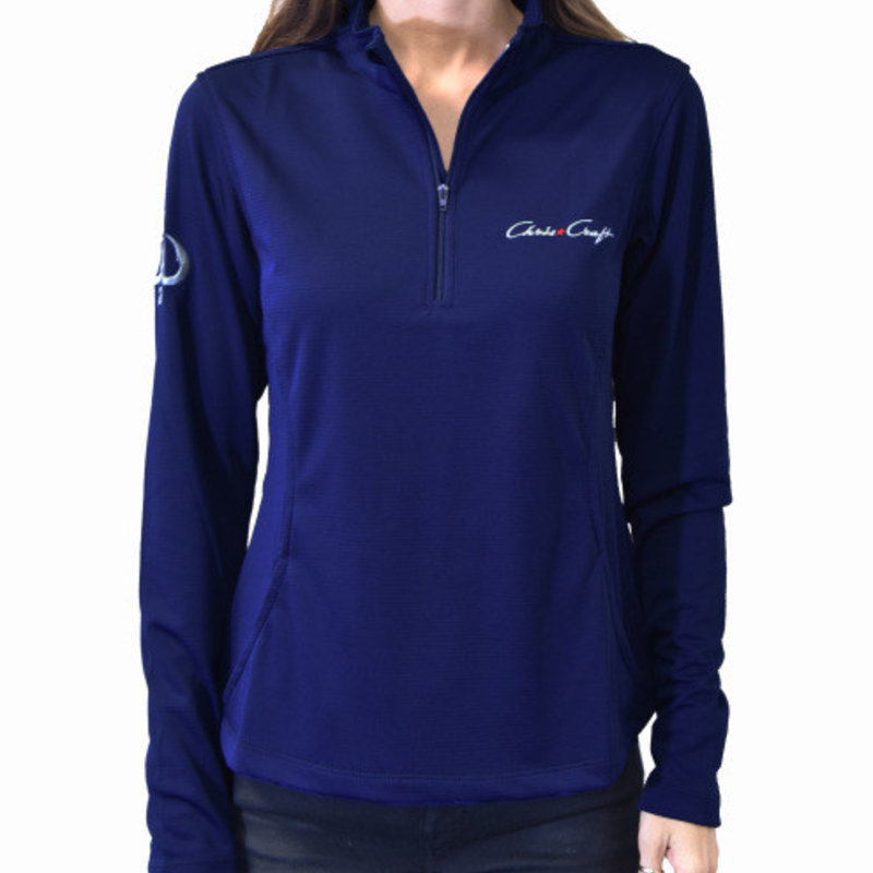 Chris Craft Ladies Performance 1/4 Zip Navy