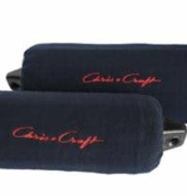 "Chris Craft 8"" x 27"" Fleece Fender Cover Pair - Navy w/ Red Logo"