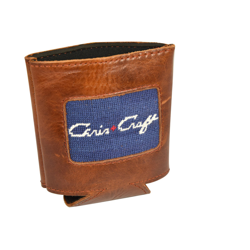 Chris Craft Needle Point Can Holder