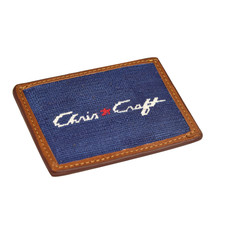 Credit Card WALLET, W/ LOGO NAVY CW-CC1