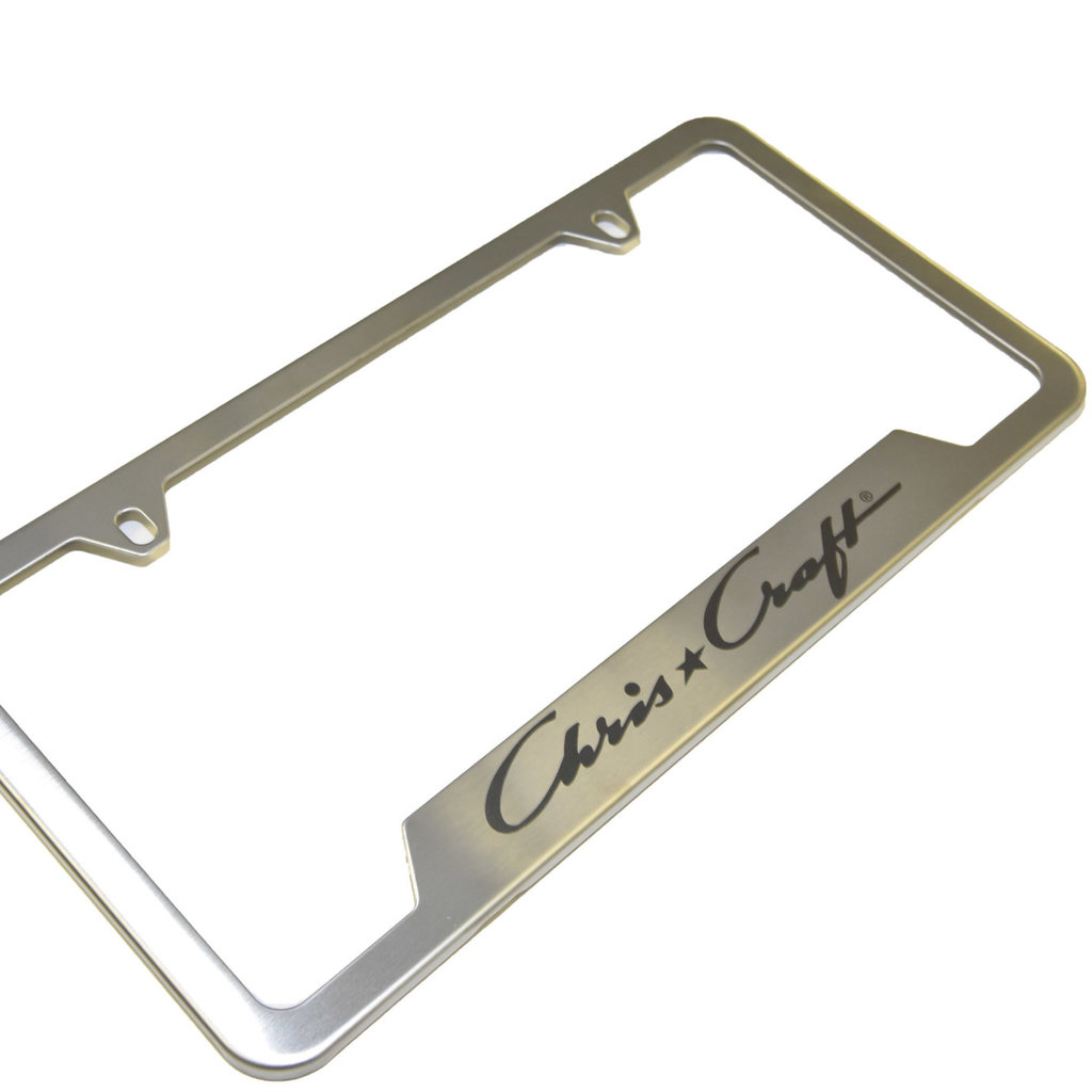 LICENSE PLATE FRAME BRUSHED STAINLESS