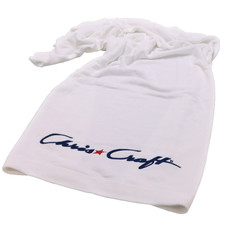 TOWELS BEACH --EMBROIDERED WHITE W/C*C LOGO #BV1104-WHT