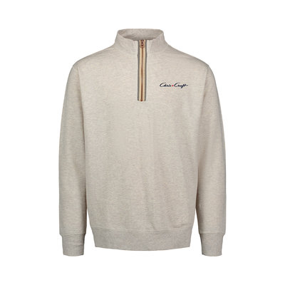 Chris Craft Marled 1/4 Zip Oatmeal
