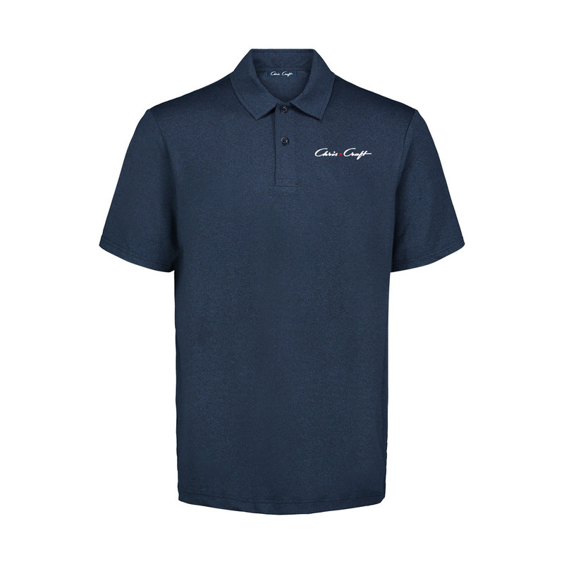 Mens Coollast Heather Lux Polo Deep Pacific