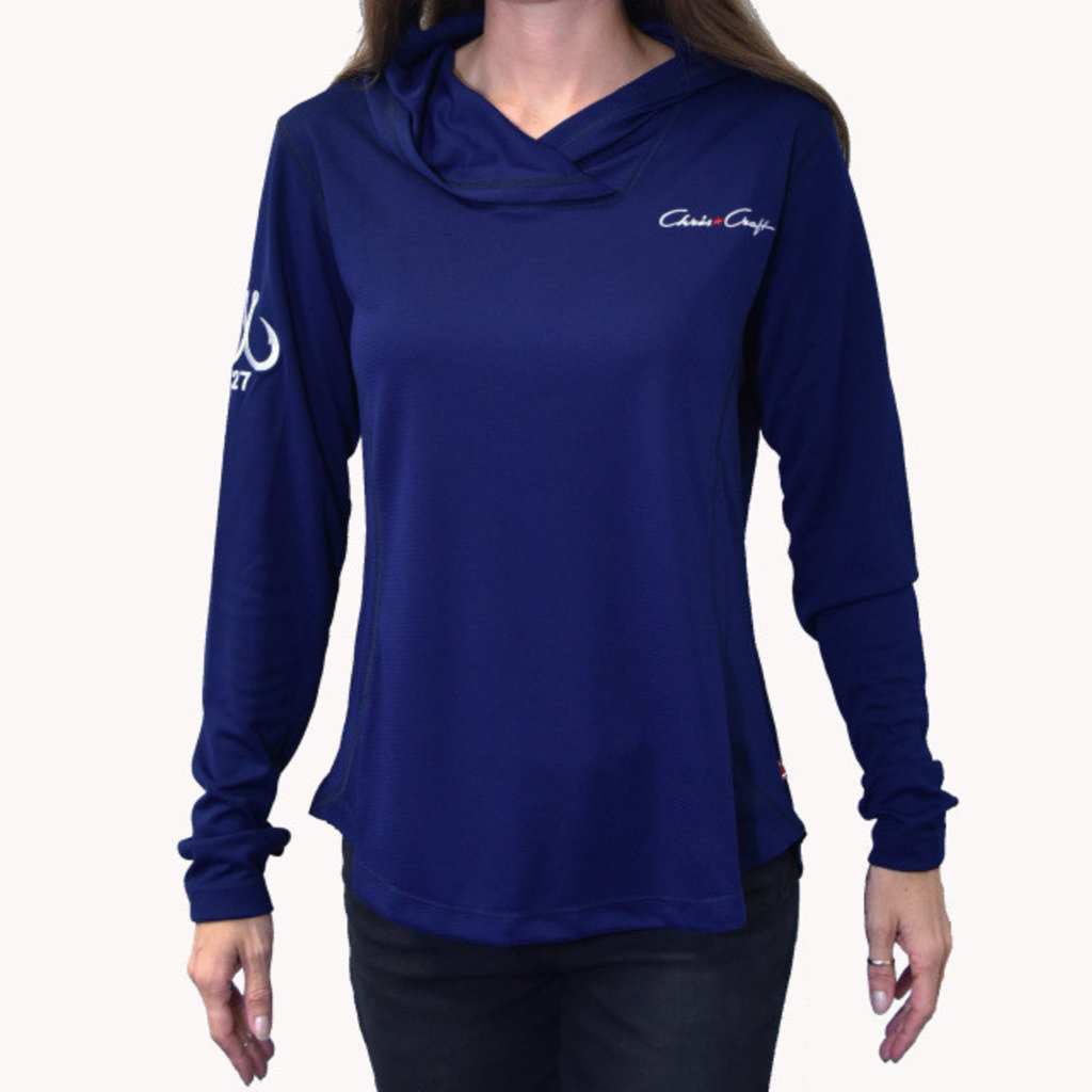 Ladies Performance Hoodie Navy