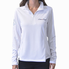 Chris Craft Ladies Performance 1/4 Zip White