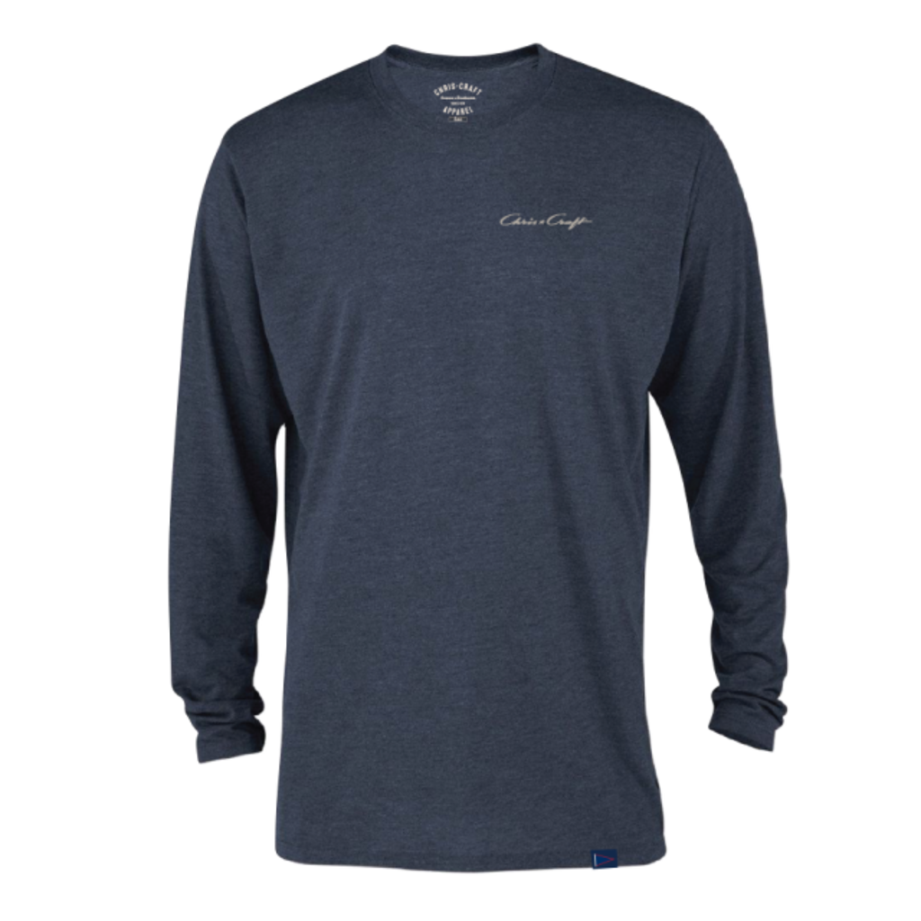 Chris Craft SHIRT, TEE TRI-BLEND LONG SLEEVE NAVY