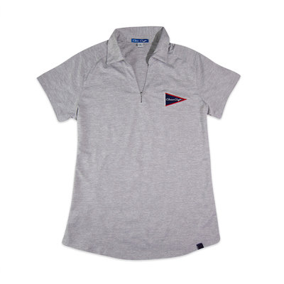 Chris Craft SHIRT, LADIES DIGI PERF POLO GRAY