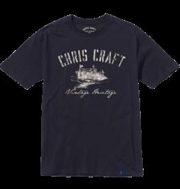 Chris Craft SHIRT, RINGSPUN TEE NAVY