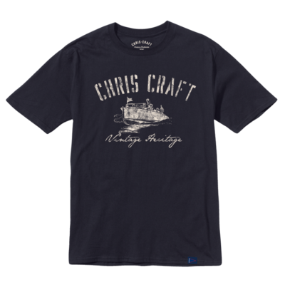 Chris Craft SHIRT, RINGSPUN TEE NAVY