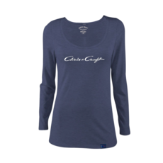 Chris Craft SHIRT, LADIES LONG SLEEVE NAVY