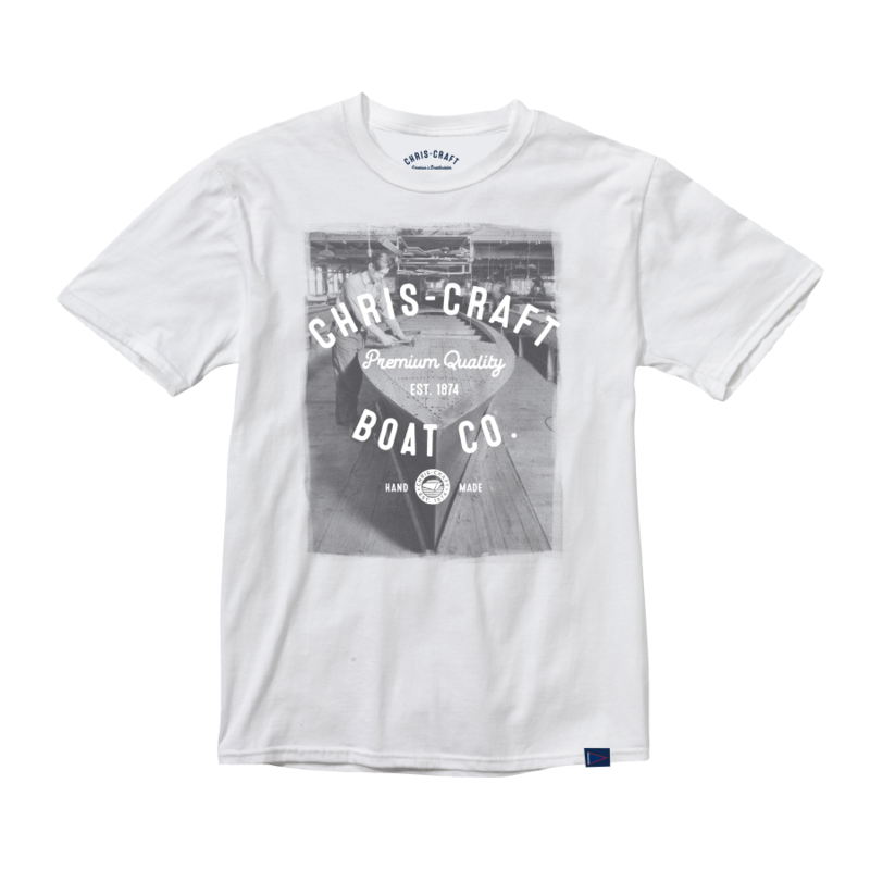 Chris Craft SHIRT, TEE YOUTH GRAY