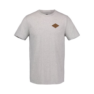 Chris Craft James Tri Heather Tee w/Leather Patch Concrete