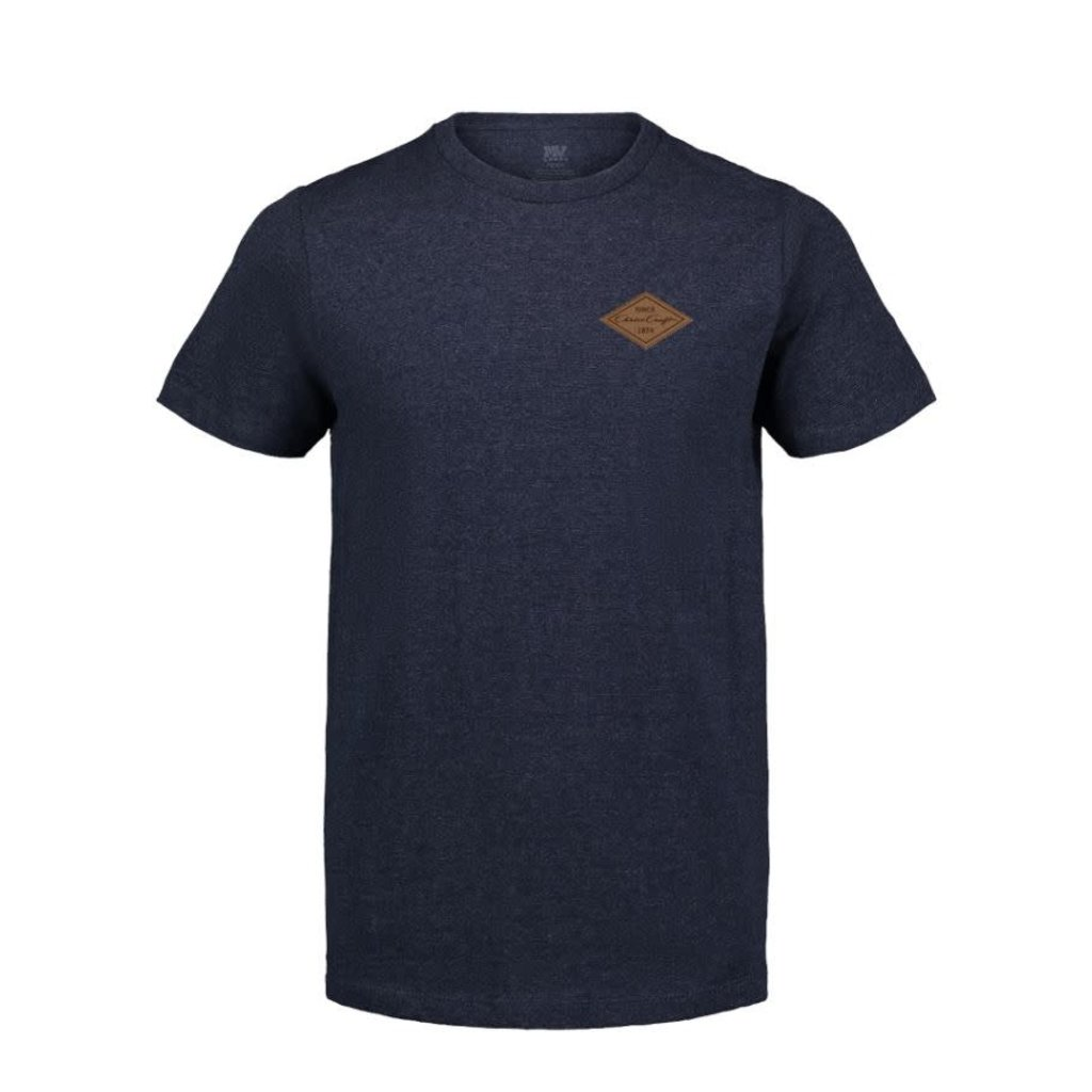 Chris Craft James Tri Heather Tee w/Leather Patch Navy