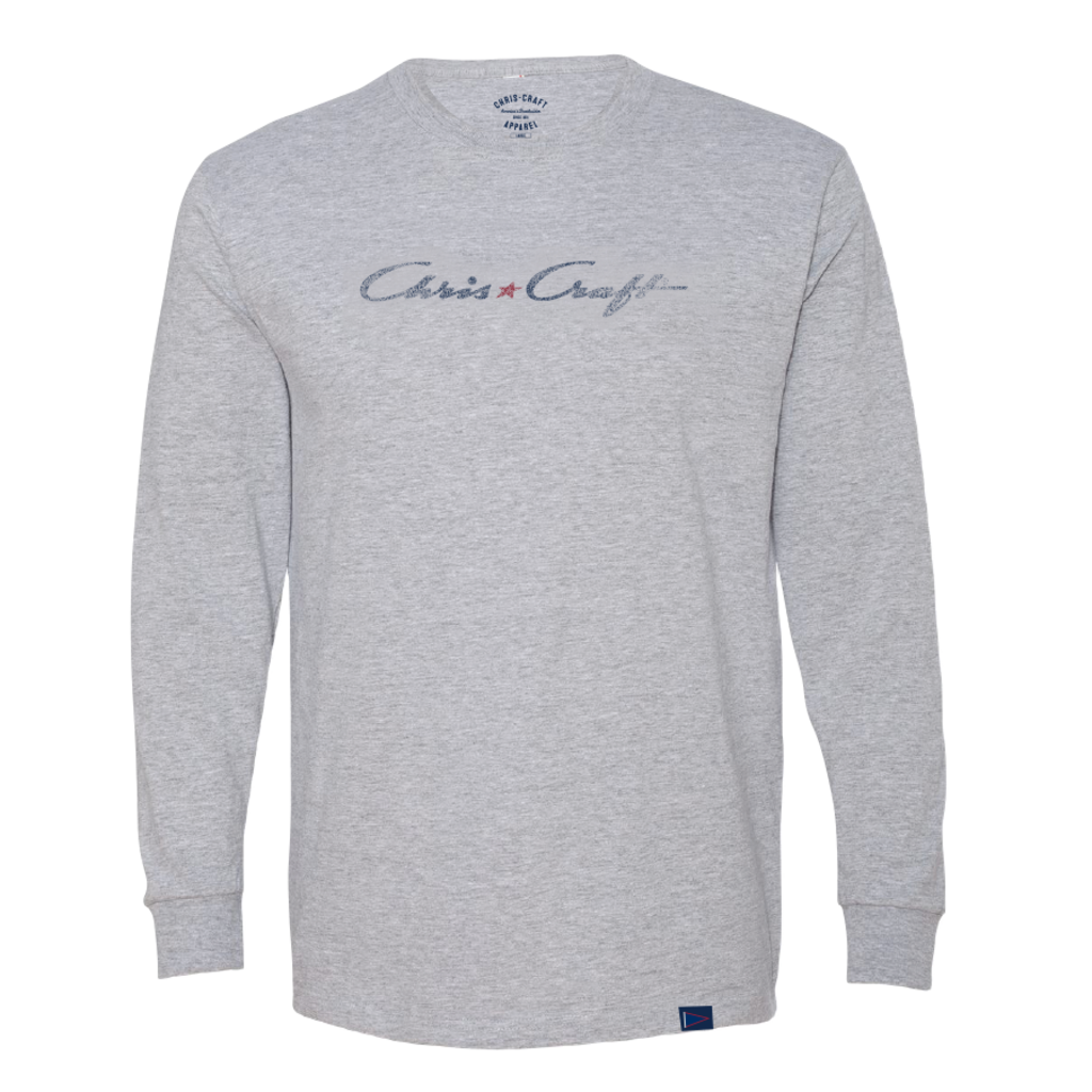 SHIRT, RINGSPUN LONG SLEEVE TEE GRAY