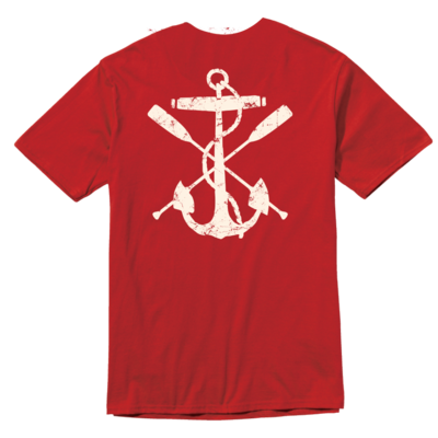 Chris Craft SHIRT, TEE RINGSPUN RED