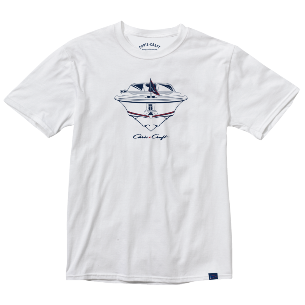 Chris Craft SHIRT RINGSPUN TEE WHITE