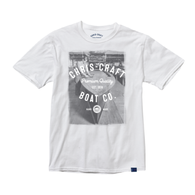 Chris Craft SHIRT, RINGSPUN TEE WHITE