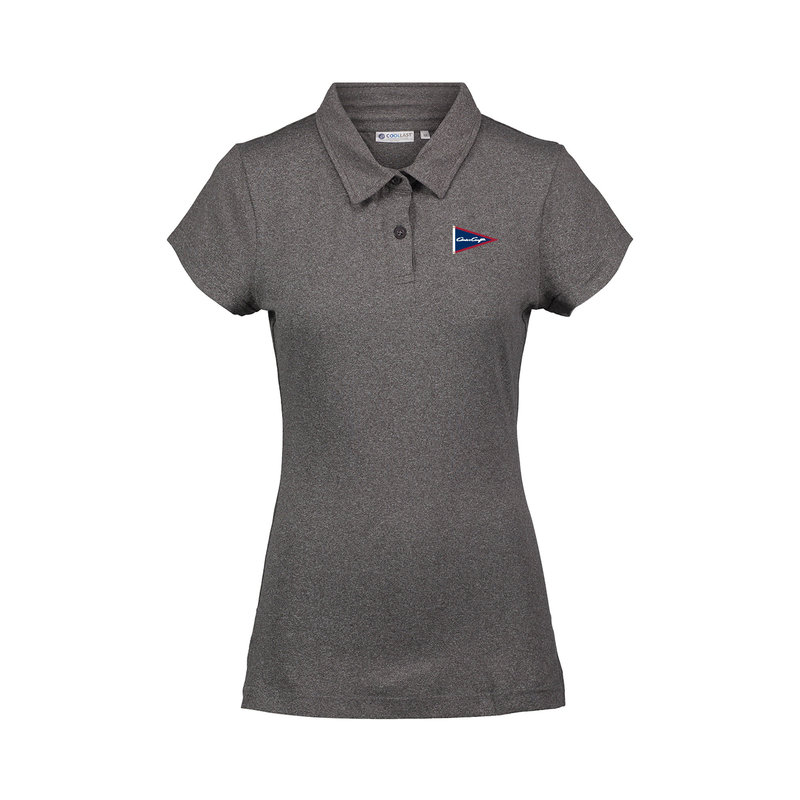 Chris Craft Ladies Coollast Lux Polo Gray