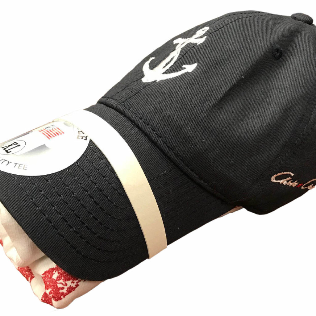 Chris Craft SHIRT, DUO (CAP/SHIRT) NAVY HAT/WHITE SHIRT
