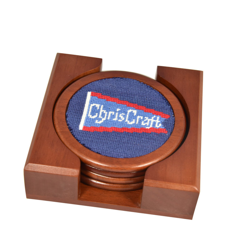 Chris Craft Needle Point Pennant Coasters