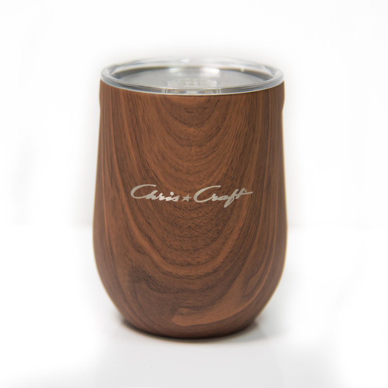 Chris Craft Corkcicle Stemless Cup (12oz)  - Walnut Wood
