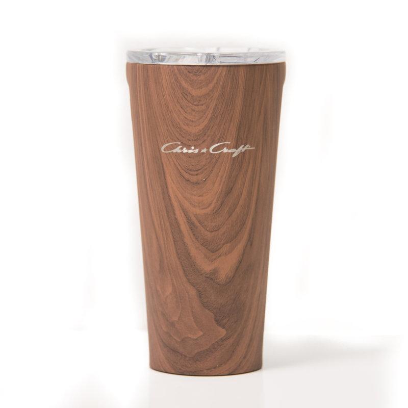 Chris Craft Corkcicle Tumbler (16oz)  - Walnut Wood
